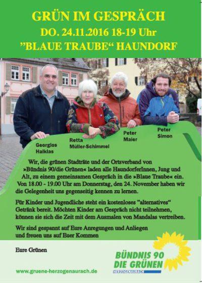 GRÜN im GESPRÄCH in Haundorf