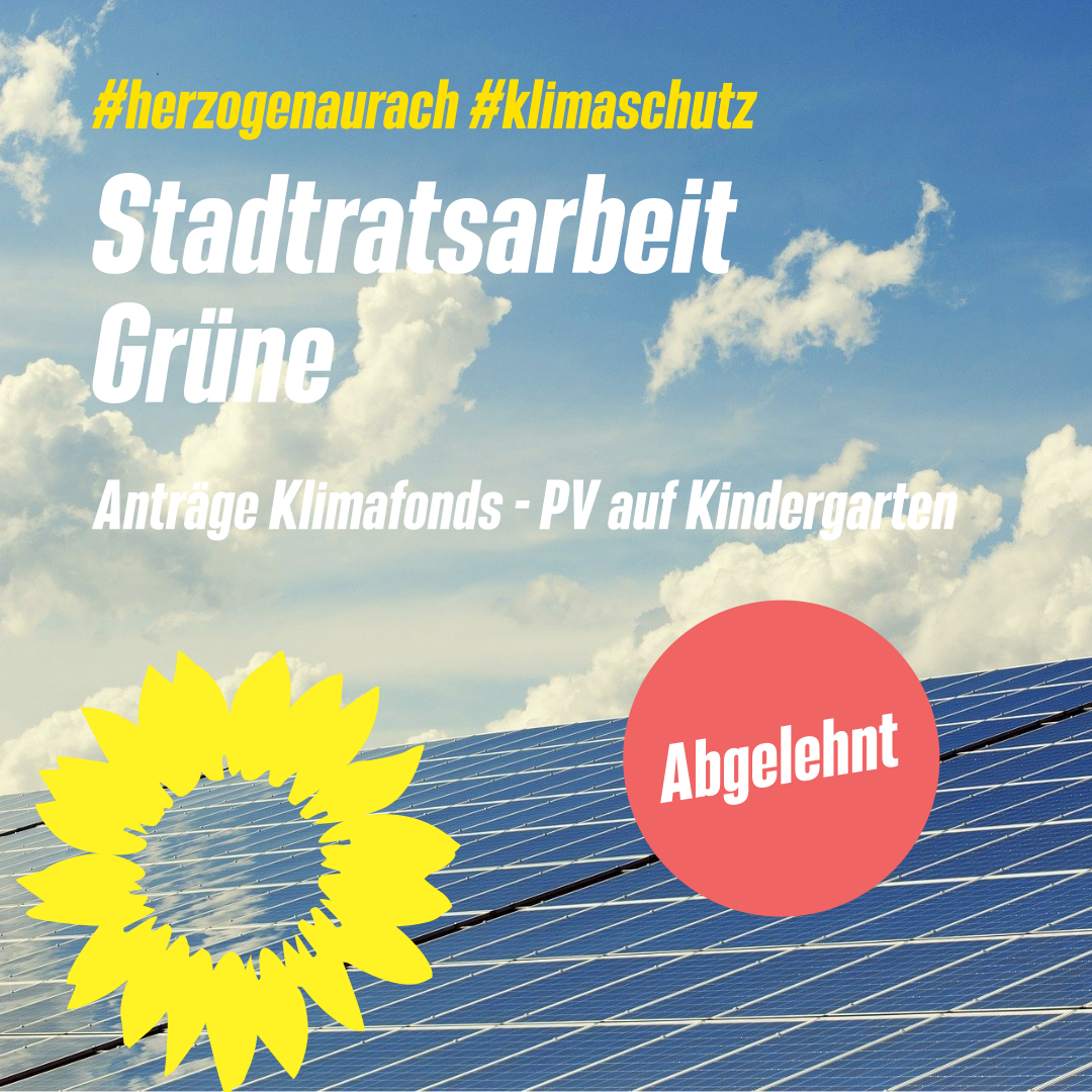 Abgelehnt – Klimafonds und PV-Erweiterung