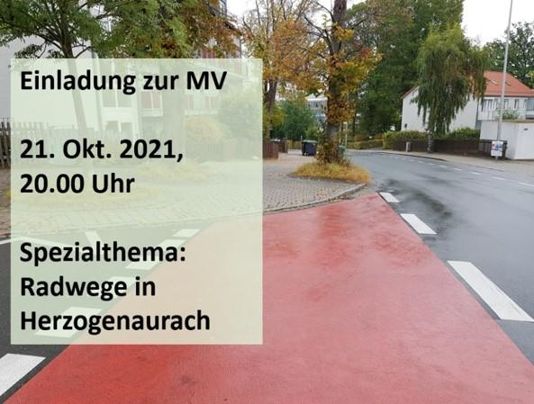 MV Herzogenaurach 21.10. – Einladung